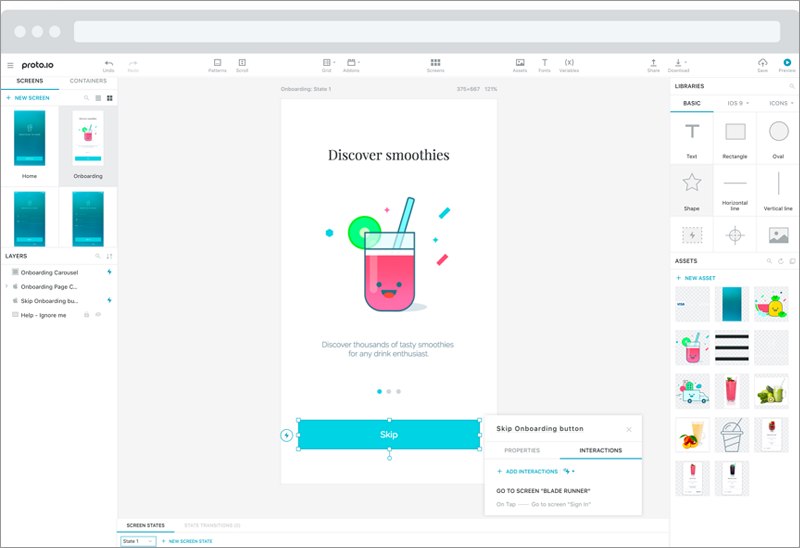 protoio is a web based mockup tool it is a good software for mobile wireframing and prototyping as it also allows to view the prototypes offline and comes - Mobile Mockup Tools