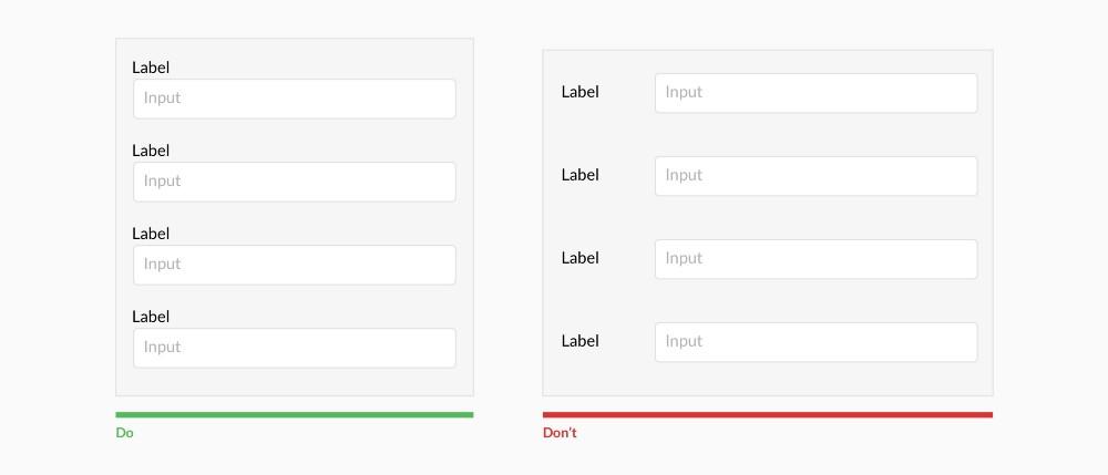 Top align labels