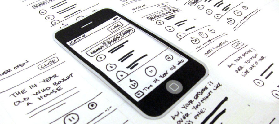 mobile phone interface layout design