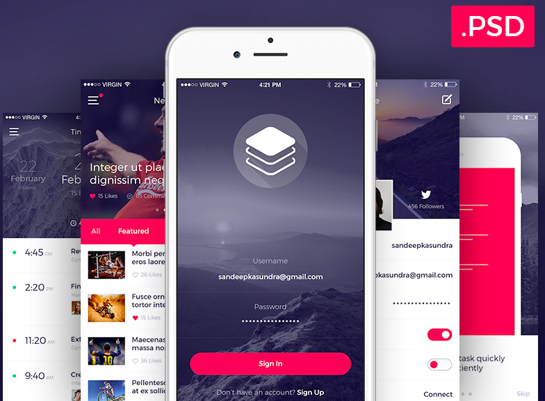 Clean & Modern iOS UI Kit