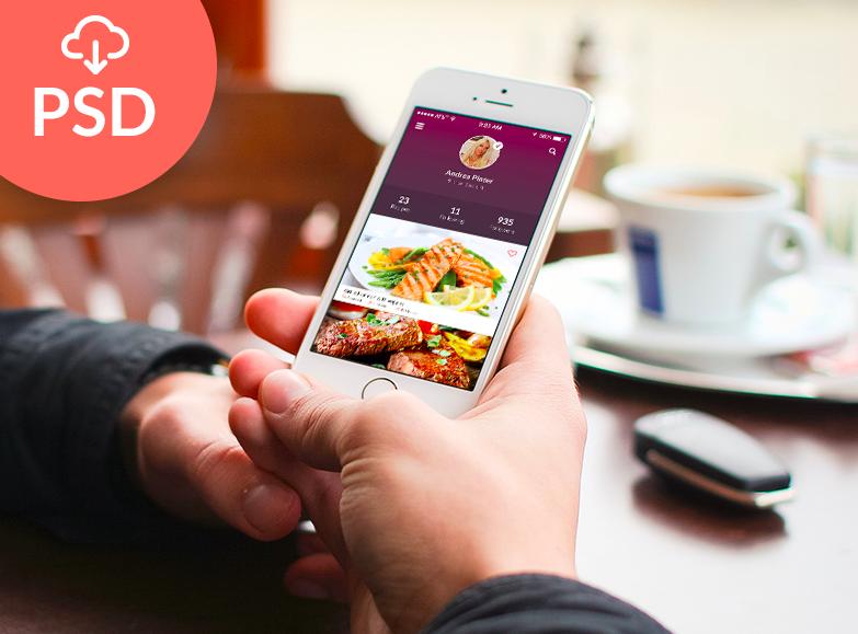 Flat Mobile App UI