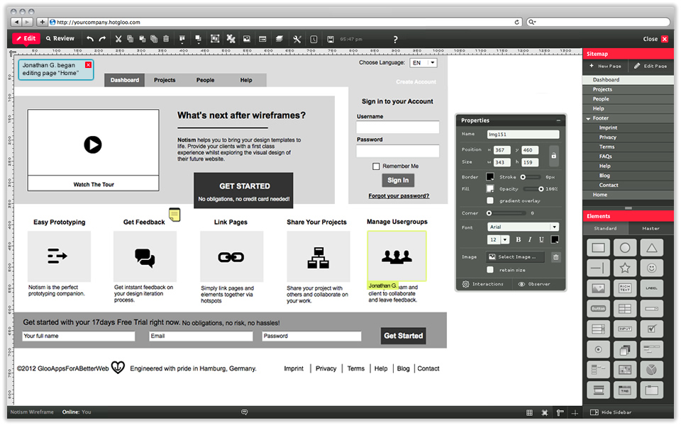 5 most easy to use wireframe design tools for free for Application design tools