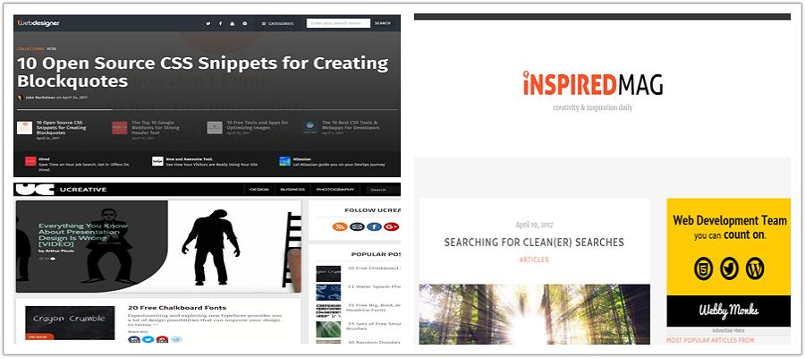 blog for design information