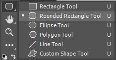 Photoshop wireframe - Use Rectangle tool to draw button