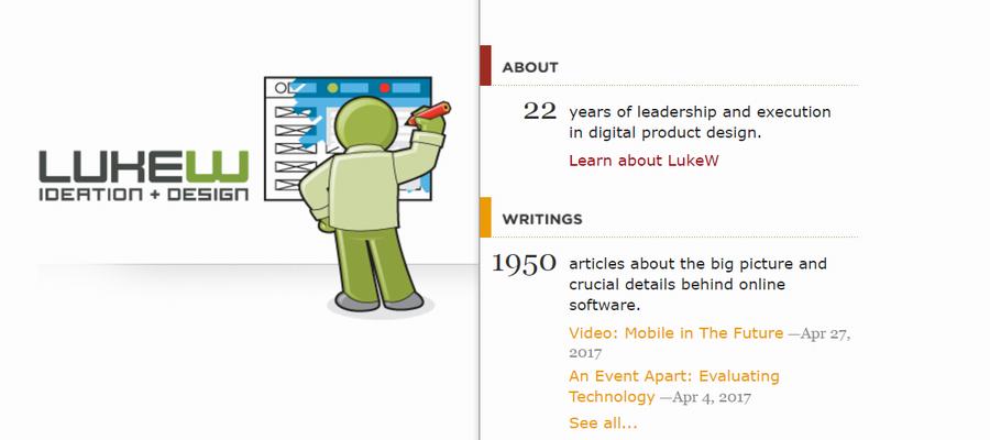 LukeW blog