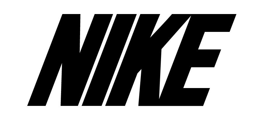 Nike text logo design