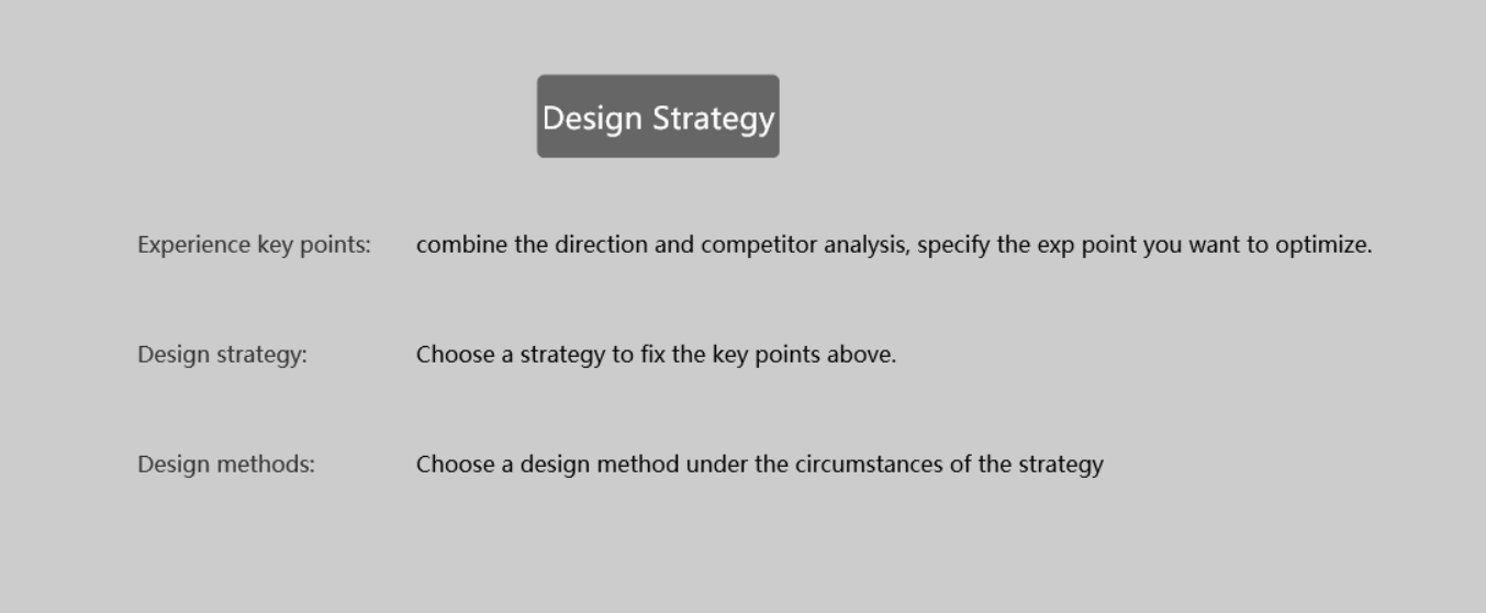 Have a comprehensive design strategy