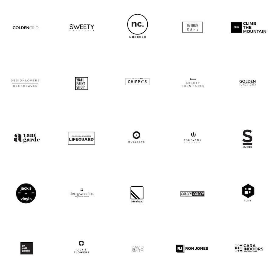25 Minimalistic Logo Free Templates