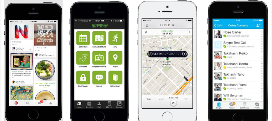 pinterest uber skype homepage
