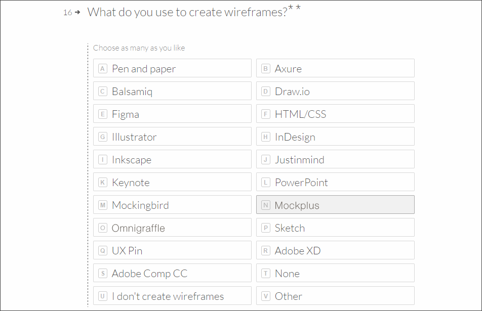 Wireframing tools according to adobe's standards