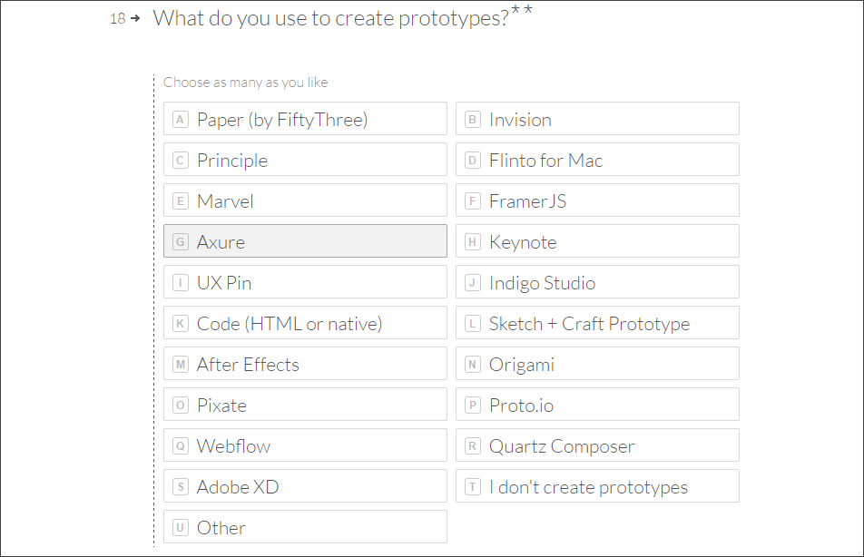 prototyping tools according to adobe's standards