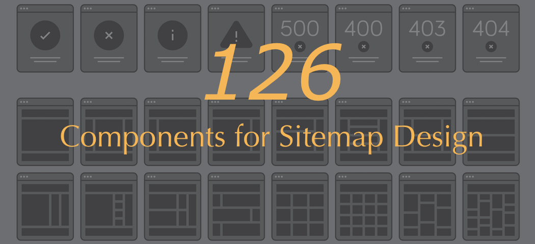 Free Design Materials - Web Layout Materials: 126 Components for Sitemap Design