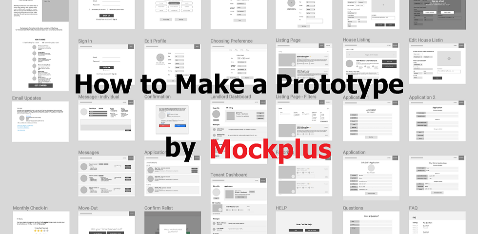 How to Make Prototypes by Using Prototyping tool Mockplus