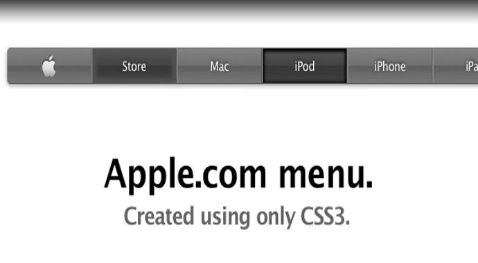 Apple navigation design style