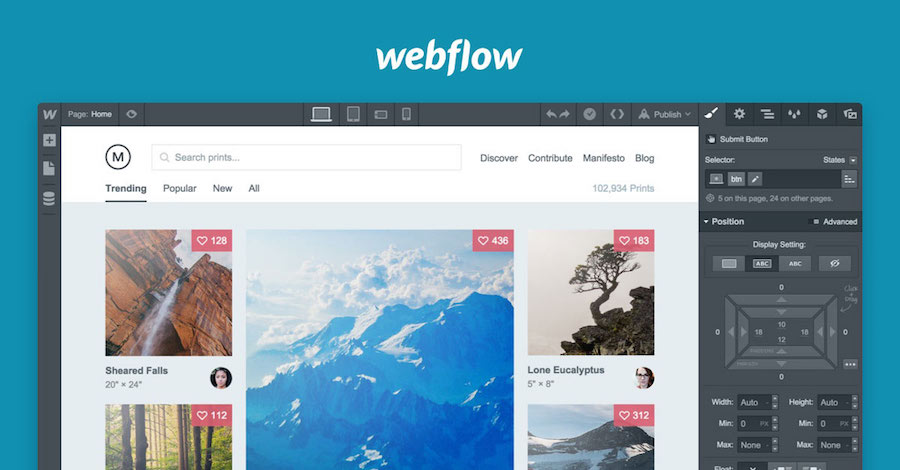 Webflow – Online Responsive Web Design Tool