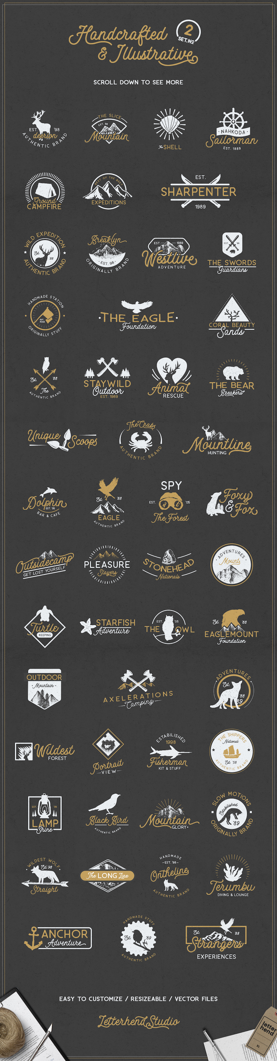 rough and vintage icons package