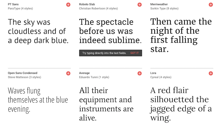 google fonts preview 1