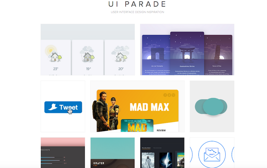 Ui Parade An Inspirational Directory Website For Discovering The Best Design Gallery Is Committed To Sharing Works Of Designers Across