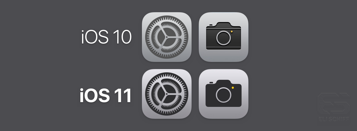 ios 11 icons vs ios 10 icons