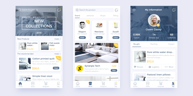 10 best app ui design for your inspiration in 2017 for Easy house design app