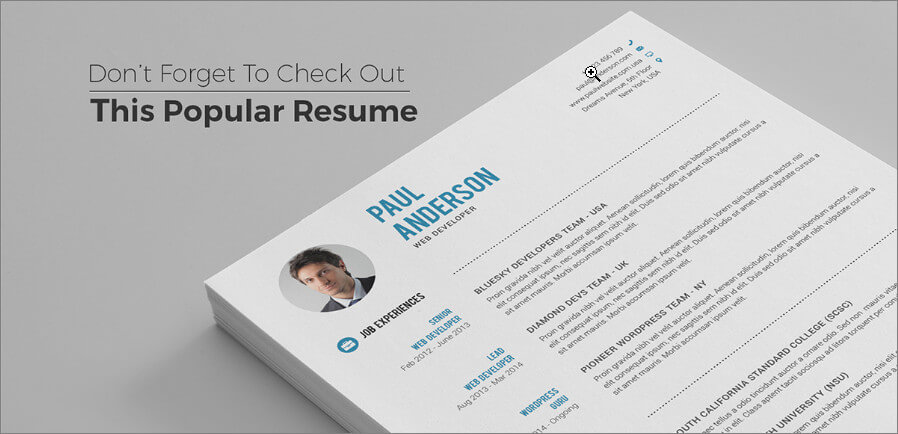 Beautiful Popular Resume Template