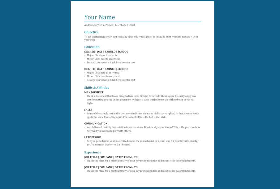 Make your resume look beautiful with a clear UI