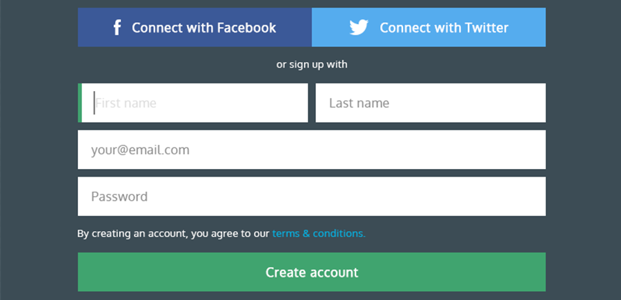 Good User Signup Form