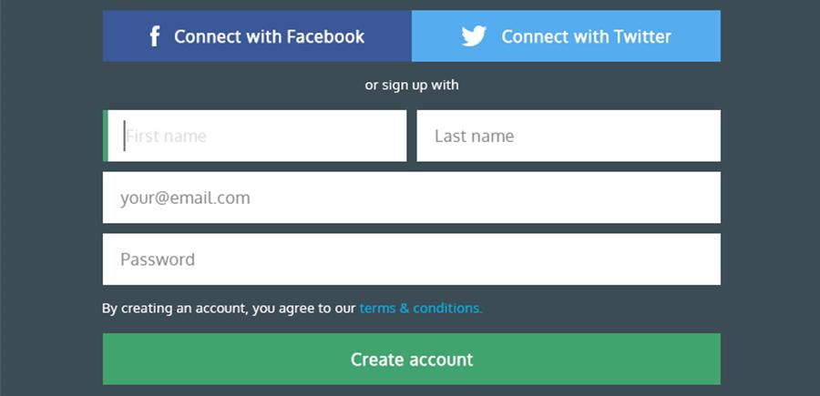 Good User Signup Form