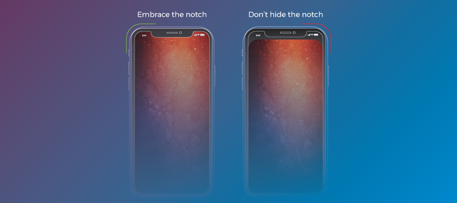 iPhone X screen: Notch