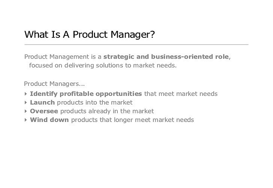 What is s product manager