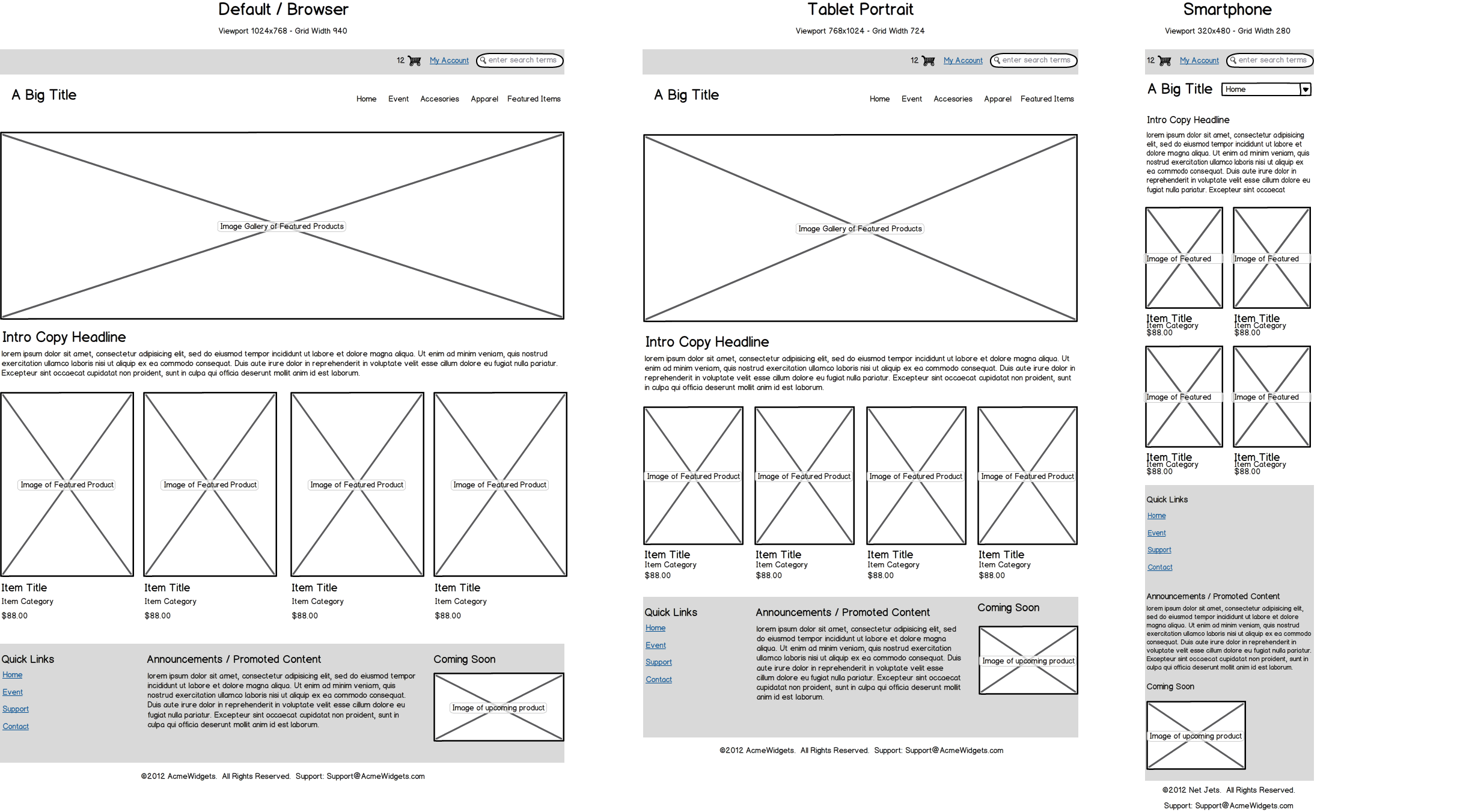 Visual features of wireframe