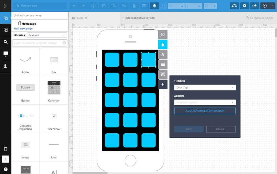 Prototyping tool UXPin