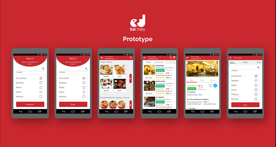 Eat Daily PROTOTYPE with Mockplus