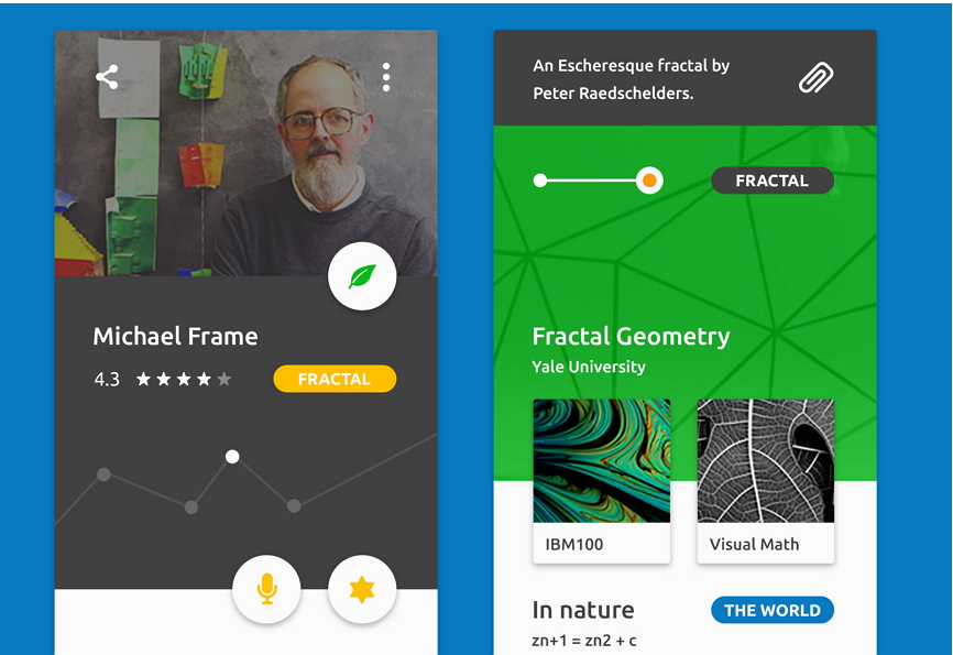 Mobile App UI Design Trends Simple Curves and Geometries