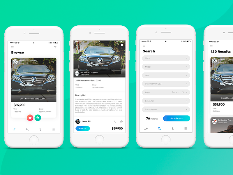 10 latest mobile app interface design examples templates in 2018