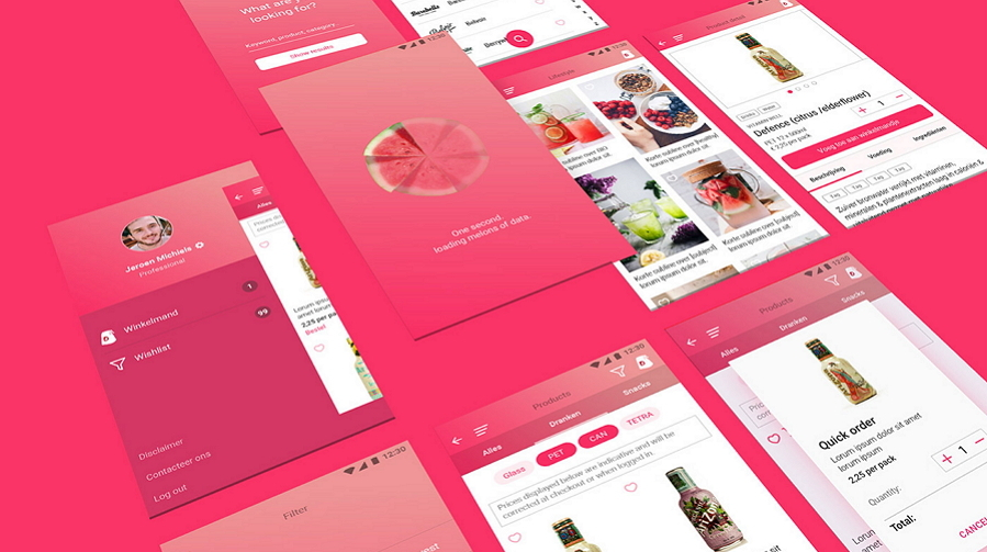 Latest Food Mobile App UI Design D Drink App