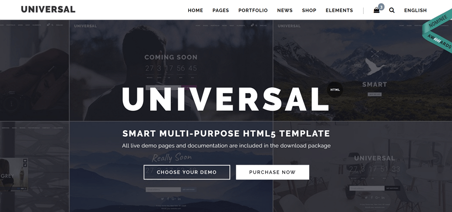 Universal Is A Modern Multipurpose Minimalistic And Easy To Use Lightweight Fast Loading Multi One Page HTML Template For Building Simple