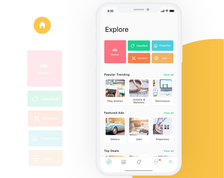 Mobile App Interface Design QuickBee