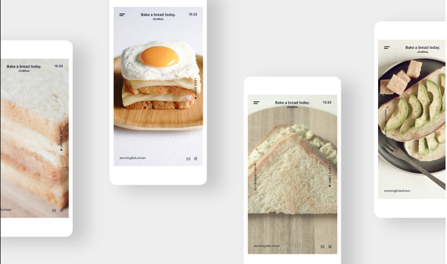 Latest Food Mobile App UI Design Morning Baker