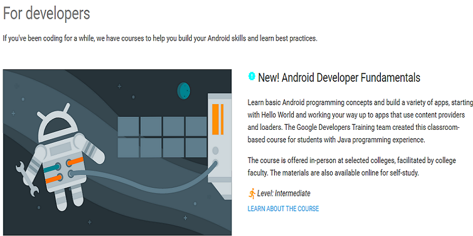 Google developers training