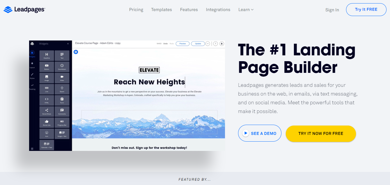Best Landing Page Design Examples For Inspiration In - Seo landing page template