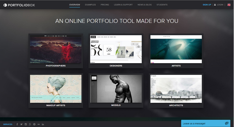 Best free online portfolio website PortfolioBox