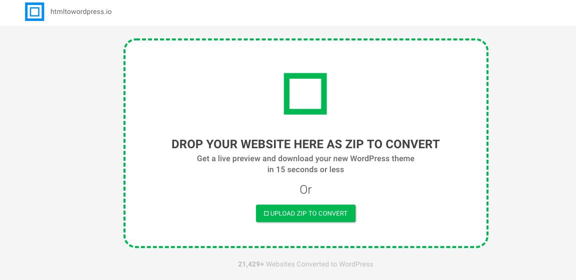 HTML到WordPress