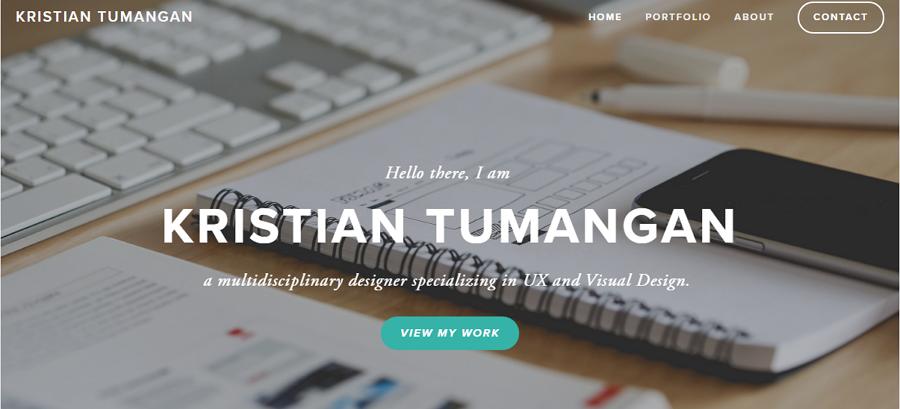 Best UX Designer Portfolio Site Kristian Tumangan