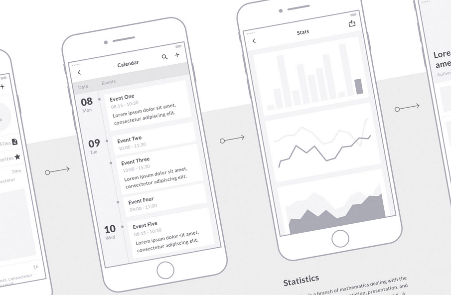Mobile Wireframe Kit