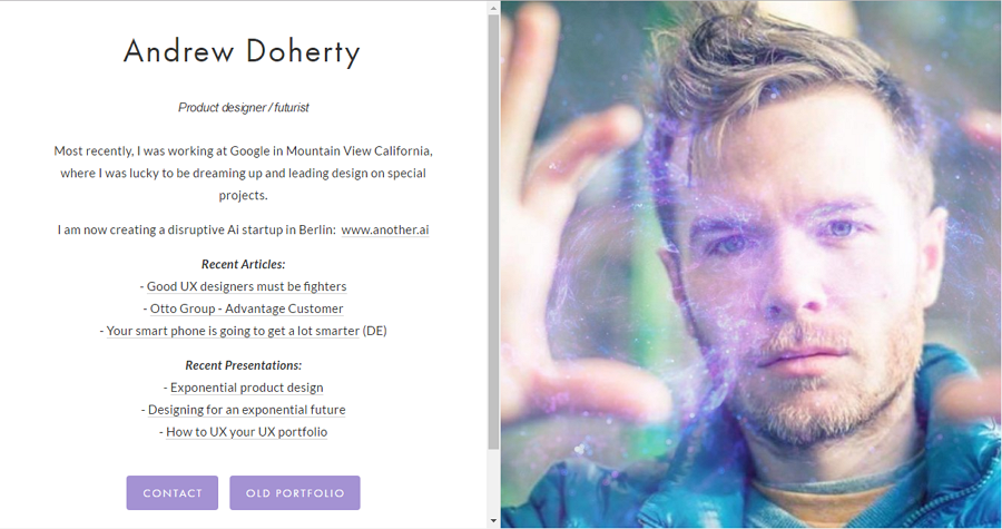Best UX Designer Portfolio Site Andrew Doherty