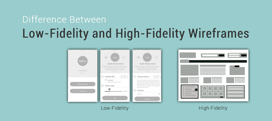 difference between high fidelity and low fidelity prototyping