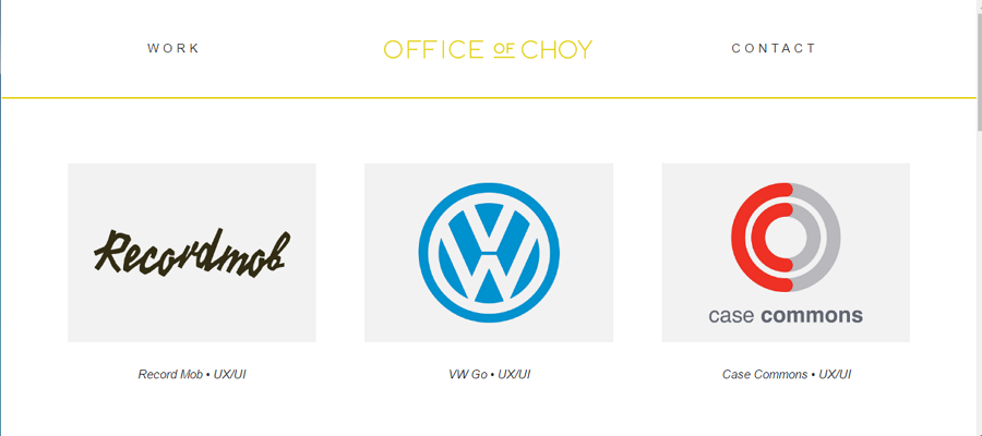Best UX Designer Portfolio Site Office of Choy