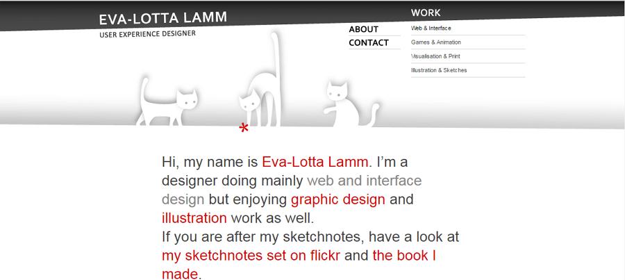 Best UX Designer Portfolio Site Eva Lotta Lamn