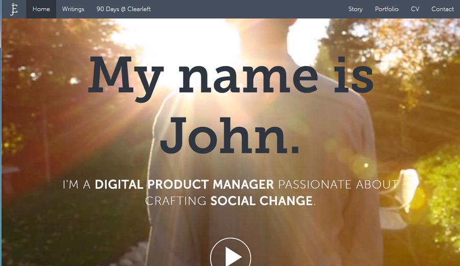 Best UX Designer Portfolio Site John Ellison